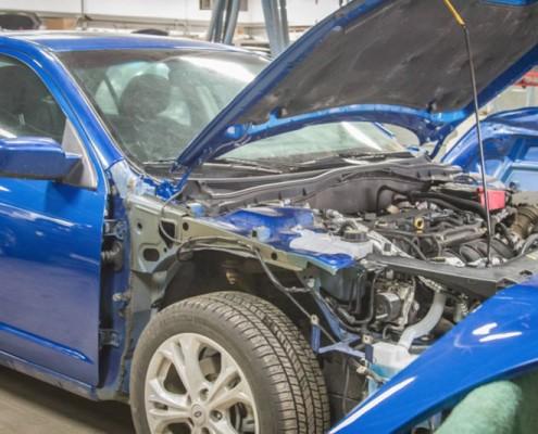 Genuine OEM repairs at Peters Body Shop ready to begin.